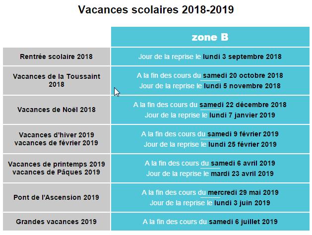 2018 01 26 17 47 41 vacances scolaires orleans 2018 2019