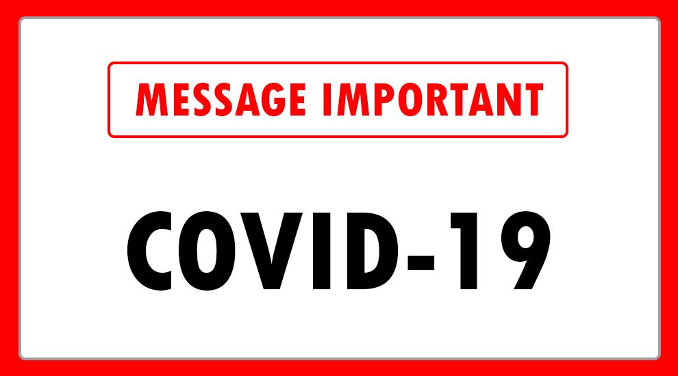 Message important covid 19